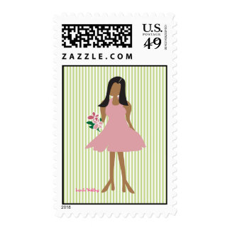 Ethnic Female Wedding Stamps