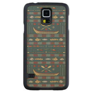 Ethnic Fishing Pattern Carved® Maple Galaxy S5 Case