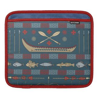 Ethnic Fishing Pattern Sleeve For iPads
