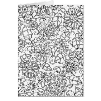 Ethnic Floral Doodle Card