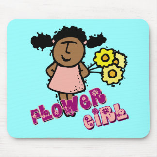 Ethnic Flower Girl Mouse Pad