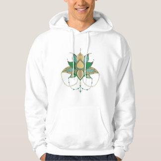Ethnic flower lotus mandala ornament hoodie
