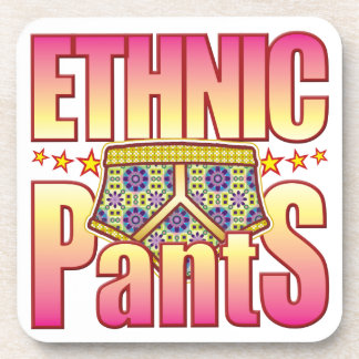 Ethnic Flowery Pants Drink Coaster