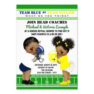 Ethnic Football Gender Reveal Baby Shower Card