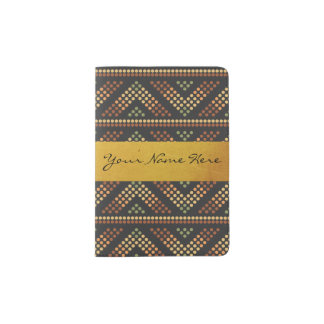 Ethnic Fusion Chevrons in Colors of the Mona Lisa Passport Holder