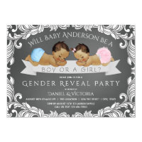 Ethnic Gender Reveal Baby Shower Invitation