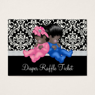Ethnic Gender Reveal Diaper Raffle Tickets