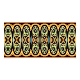 Ethnic geometric pattern card
