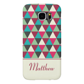 Ethnic Geometric Triangles Pattern Personalized Samsung Galaxy S6 Case