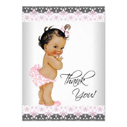 Ethnic Girl Baby Shower Thank You Card