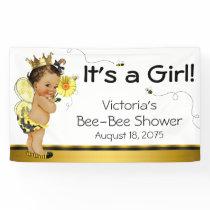 Ethnic Girl Bee Baby Shower Banner
