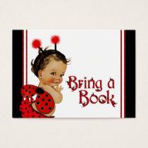 Ethnic Girl Ladybug Bring a Book Cards