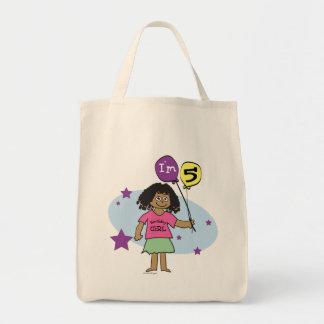 Ethnic Girls I'm 5 5th Birthday Tote Bag
