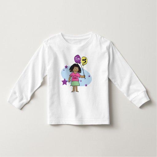 Ethnic Girls I'm 5 5th Birthday Toddler T-shirt