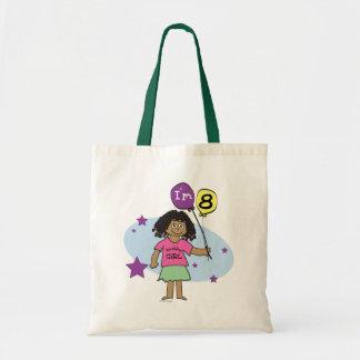 Ethnic Girls I'm 8 8th Birthday Canvas Bag