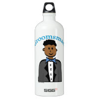 Ethnic Groomsman Aluminum Water Bottle