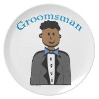 Ethnic Groomsman Plate