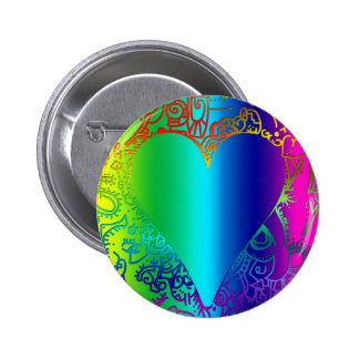 Ethnic Heart Button