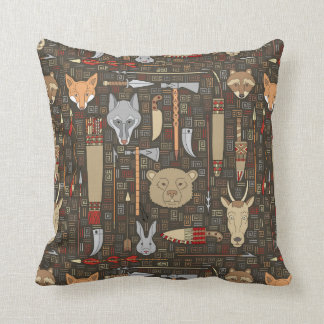 Ethnic Hunting Pattern Pillow
