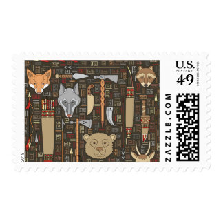Ethnic Hunting Pattern Postage