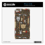 Ethnic Hunting Pattern Skin For iPhone 4