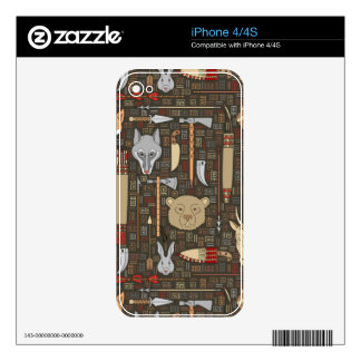 Ethnic Hunting Pattern Skins For The iPhone 4