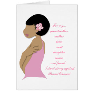 (Ethnic) I Stand Strong Against Breast Cancer Card