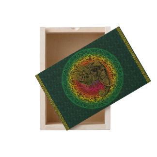 Ethnic Indian Style - Mandala - Tribal Elephant Wooden Keepsake Box