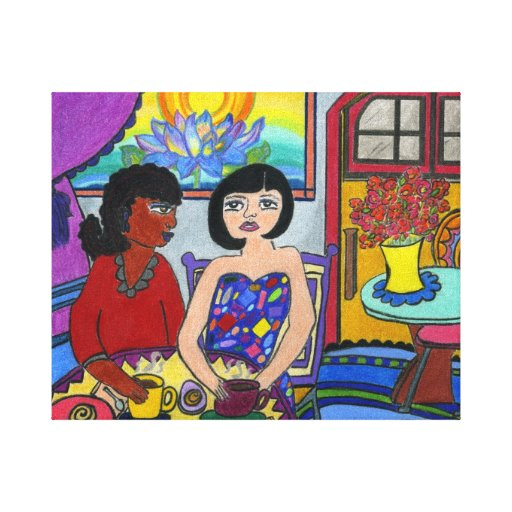 Ethnic, Interracial, Multicultural Stretched Canvas Print