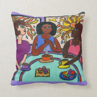 Ethnic, Interracial, Multicultural Throw Pillow