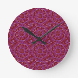 ETHNIC JEWEL sparkle template diy wedding gifts Round Wall Clock
