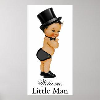 Ethnic Little Man Boy Baby Shower Banner Poster