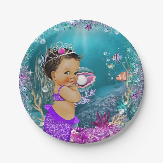 sc 1 st  Zazzle & Ethnic Little Mermaid Baby Paper Plates | Zazzle.com