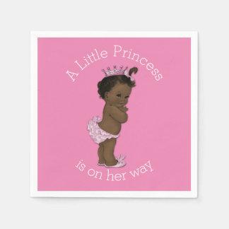 Ethnic Little Princess Baby Shower Pink Napkin