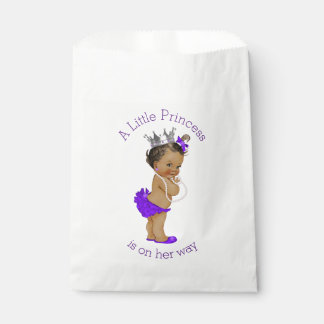 Ethnic Little Princess Baby Shower Purple Favor Bag