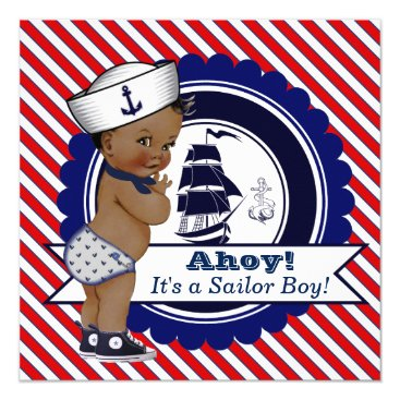 The_Baby_Boutique Ethnic Little Sailor Nautical Baby Shower Card