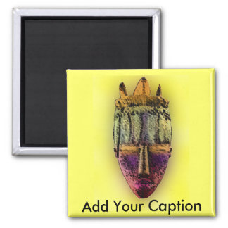 Ethnic Mask - Africa 2 Inch Square Magnet