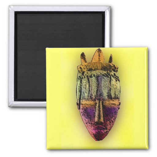 Ethnic Mask - Africa Refrigerator Magnets