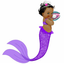 Ethnic Mermaid Baby Girl Cutout