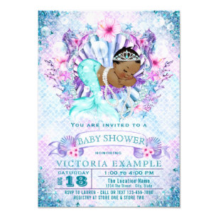 mermaid baby shower invitations zazzle