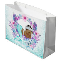 Ethnic Mermaid Baby Shower Large Gift Bag