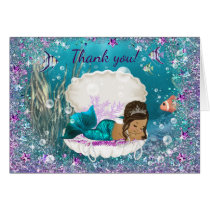 Ethnic Mermaid Baby Shower Thank You Card
