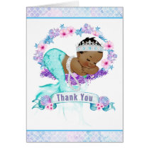 Ethnic Mermaid Baby Shower Thank You Cards
