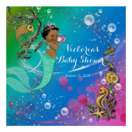 Ethnic Mermaid Under The Sea Poster