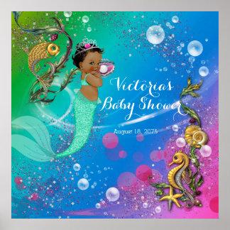 Ethnic Mermaid Under The Sea Poster