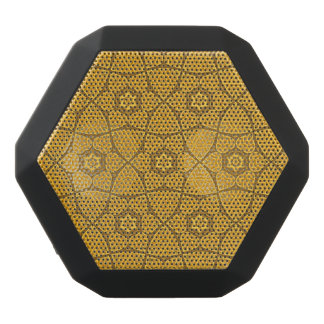Ethnic modern geometric pattern black bluetooth speaker