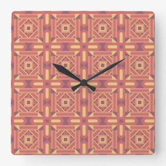 Ethnic Moroccan Motifs Seamless Pattern 7 Square Wall Clock
