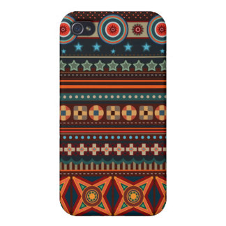 Ethnic Native American Indian Pattern iPhone 4 Cas iPhone 4/4S Cases