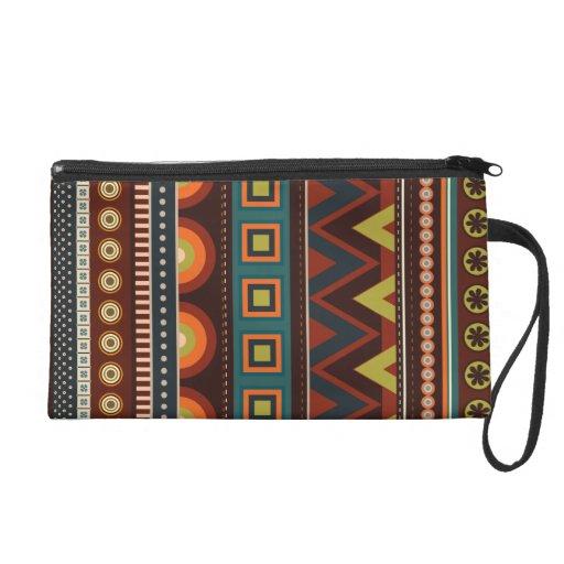 Ethnic Native American Indian Pattern Wristlet
