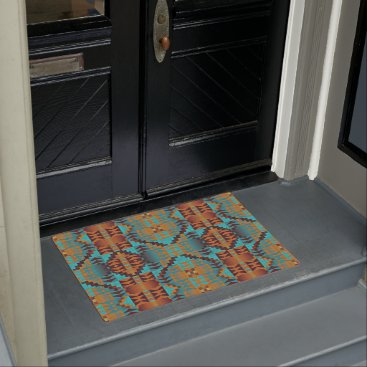 CozyCreekCabin Ethnic Native American Indian Tribal Pattern Art Doormat